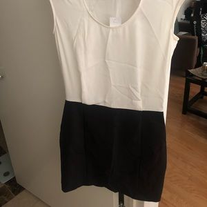 Dress. Cream top and black bottom